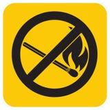 Отсутствие знака пожара Символ открытого пламени запрета иллюстрация штока