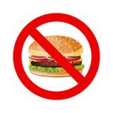 Отсутствие знака позволенного гамбургером Стоковое Изображение RF