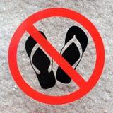 Отсутствие знака позволенного обувью иллюстрация вектора