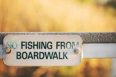 Отсутствие знака рыбной ловли Стоковая Фотография