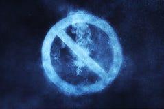 Отсутствие знака, отсутствие символа Абстрактная предпосылка ночного неба Стоковое фото RF