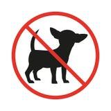 Отсутствие знака собак на белой предпосылке иллюстрация штока
