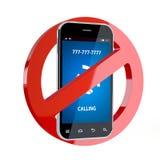 Отсутствие знака сотового телефона Стоковая Фотография