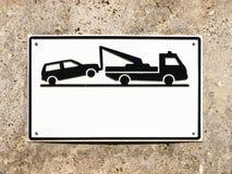 Отсутствие знака стоянкы автомобилей Стоковое Изображение