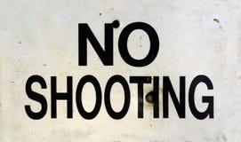 Отсутствие знака стрельбы Стоковое Изображение