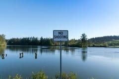 Отсутствие знака стрельбы Стоковое Фото