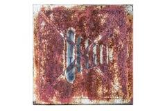 Отсутствие знака фотографии на старой ржавой доске Стоковые Изображения