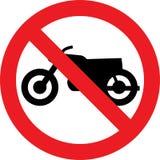 Отсутствие знака motocycle Стоковые Изображения RF
