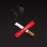 Отсутствие знак и символ дня табака с темной предпосылкой иллюстрация штока