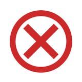 Отсутствие значка знака простого иллюстрация штока