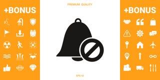 Отсутствие значка колокола культивирование бригады запрета горящее тушит знак открытого запрещения пожарных пожара спешя к древес бесплатная иллюстрация