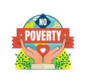 Отсутствие значка логотипа вектора бедности Иллюстрация вектора