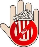 Отсутствие значка попкорна с рукой бесплатная иллюстрация