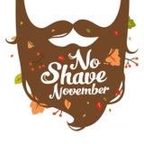 Отсутствие иллюстрации в ноябре бритья Стоковые Фотографии RF
