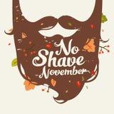 Отсутствие иллюстрации в ноябре бритья Стоковое Фото