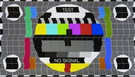 Отсутствие карточки экрана ТВ испытания сигнала Стоковое Фото