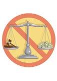 Отсутствие коррумпированного суда Стоковое Изображение RF