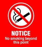 отсутствие курить знака Стоковое Фото