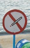 отсутствие курить знака Стоковые Фотографии RF