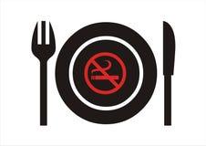 отсутствие курить ресторана Иллюстрация штока