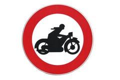 Отсутствие мотоциклов, знака уличного движения Стоковые Фотографии RF