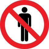 Отсутствие мужского знака туалетов Стоковая Фотография