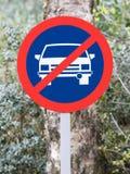 Отсутствие дорожного знака автостоянки старого Стоковое Изображение RF