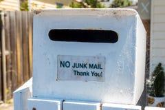 Отсутствие почты на выброс Стоковые Фото