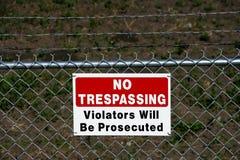 отсутствие приватного trespassing Стоковое Фото