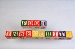 Отсутствие продовольственной безопасности термине Стоковые Изображения RF