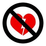 Отсутствие разбитого сердца бесплатная иллюстрация