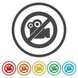 Отсутствие рекордного видео- знака, отсутствие знака всхода видео-, 6 включенных цветов Стоковые Фотографии RF