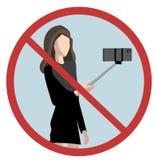 Отсутствие ручек selfie иллюстрация штока
