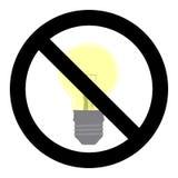 Отсутствие светлого символа Не поверните дальше знак иллюстрация штока