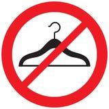 Отсутствие символа запрета вешалок Стоковые Фотографии RF