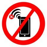 Отсутствие символа сигнала с мобильным телефоном иллюстрация штока