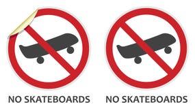 отсутствие скейтбордов знака Стоковые Изображения RF