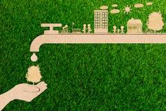 Отсутствие спасения воды загрязнения и воды экологически чистой энергии леса Стоковые Фотографии RF