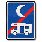 Отсутствие стоянки для туристов на ночи бесплатная иллюстрация