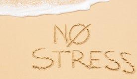 Отсутствие стресса на пляже стоковые изображения