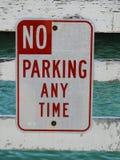 отсутствие улицы знака стоянкы автомобилей стоковые изображения rf