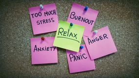 Отсутствие фотографии психологии стресса стоковое фото
