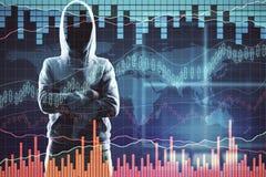 Отсутствие хакер и диаграммы стороны Стоковые Изображения