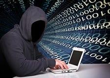 Отсутствие хакера стороны Стоковые Изображения