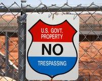 отсутствие trespassing знака Стоковое Фото