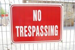 отсутствие trespassing знака Стоковая Фотография RF