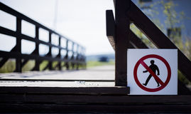 отсутствие trespassing знака Стоковое фото RF