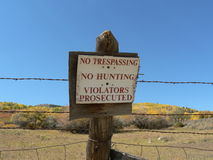 отсутствие trespassing знака Стоковое Изображение RF