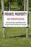 отсутствие trespassing знака стоковые изображения