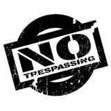Отсутствие Trespassing избитой фразы Стоковое Изображение
